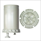 Chemical filter housing